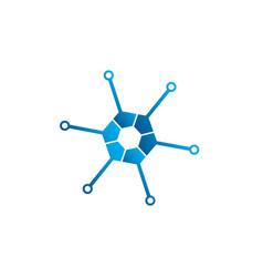 technology hexagon icon for logo design high vector image