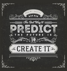 The best way to predict the future quote vector