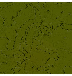 Topographic map jungle green vector