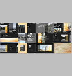 Travel concept presentations design portfolio vector