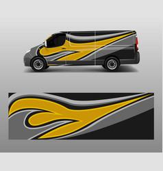 Van decal wrap design for company branding vector