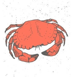 Vintage graphic with Crab Print vector image