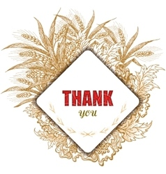 Vintage Thank You Card Stylish floral background vector
