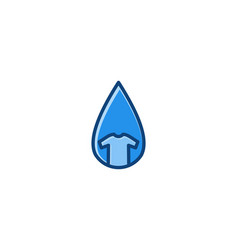 water drop and t shirt laundry logo inspiration vector image