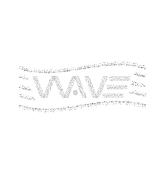 Wave logo text dots particles graphic design t vector