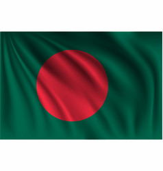 Waving bangladesh vector