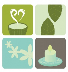 Wellness and relaxation icon pack vector