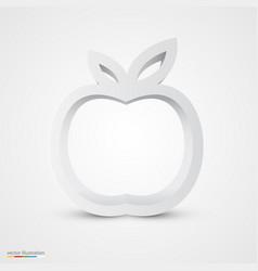 White apple icon vector