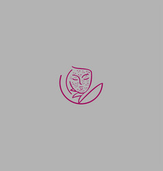 woman fashion logo vector image