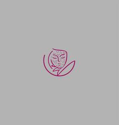 woman fashion logo vector image