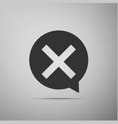 X mark cross in circle icon check cross mark vector