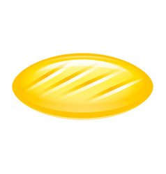 yellow candy icon isometric style vector image