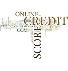 z online credit score text background word cloud vector image