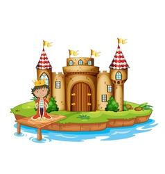 A king near the castle vector image vector image