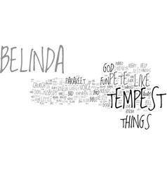 belinda cigars text background word cloud concept vector image vector image