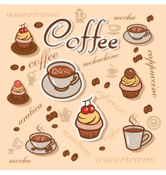 coffeeart background vector image vector image