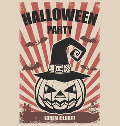 halloween party poster template scary vector image