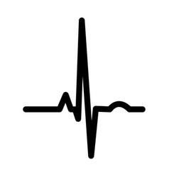 heart rhythm ekg black color icon vector image
