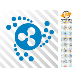 Ripple swirl flat icon with bonus vector