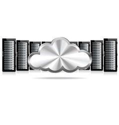 Servers Cloud Computing vector image vector image