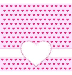 Valentine day invitation card vector image vector image
