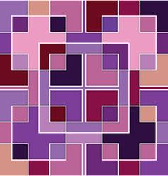 abstract geometric purple mosaic vector image vector image