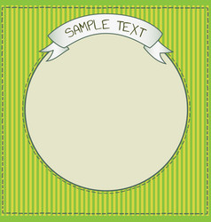 cute green frame template vector image vector image