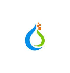 droplet bio technology logo vector image vector image