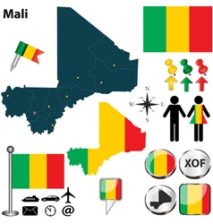 Mali map vector image vector image
