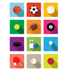 sport balls flat icons vector image vector image