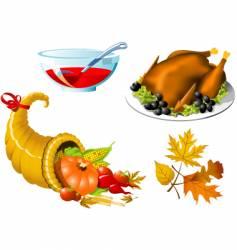 thanksgiving symbols vector image vector image