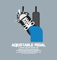 Adjustable Pedal vector image