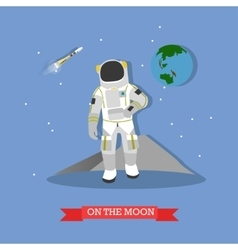 astronaut walking on the vector image vector image