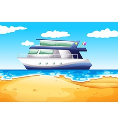 Beach and boat vector image vector image