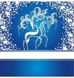 Christmas card with deers vector image vector image