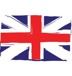 grunge uk flag or banner vector image