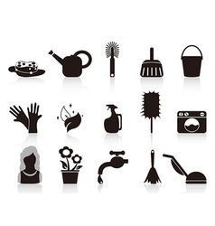 black household icons vector image vector image