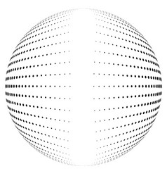 Halftone globe desing with clean center vector
