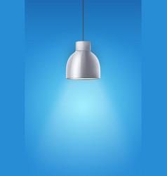 retro chrome stylish ceiling cone lamp vector image vector image