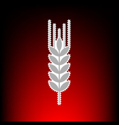 wheat sign spike spica postage vector image vector image