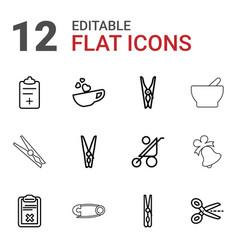 12 clip icons vector