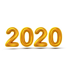 2020 new year greeting card concept banner vector image