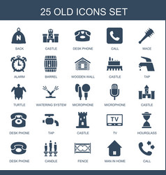 25 old icons vector