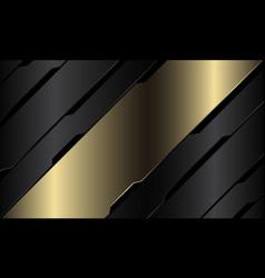 Abstract gold banner grey metallic black circuit vector