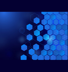 Abstract hexagon technology concept background vector