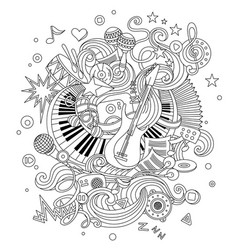 abstract music background collage with musical vector image