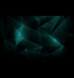 Abstract polygonal in dark green backgrounf vector