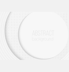 abstract volumetric 3d circle rounded paper cuted vector image