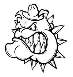 an of a fierce bulldog animal vector image