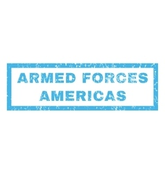 Armed Forces Americas Rubber Stamp vector
